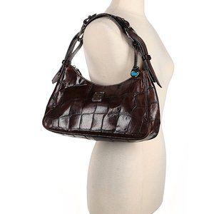 Dooney & Bourke Brown Alligator Leather Bag